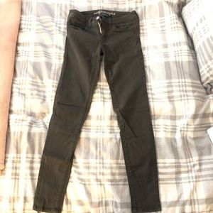 Military Olive Green Skinny Jeans